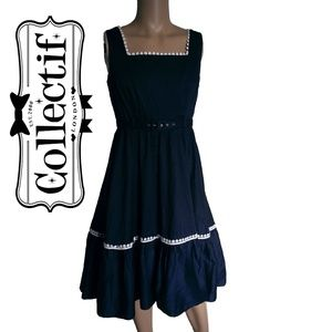 Collectif x Modcloth Frida Swing Dress SZ M